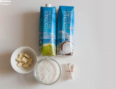 Kokosov puding sestavine