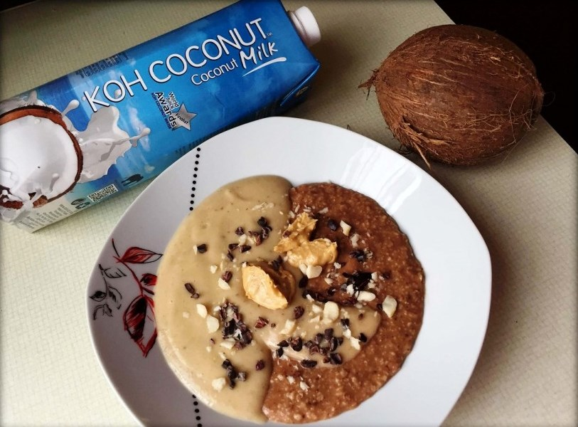 Ovsena kaša s kokosovim mlekom