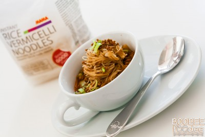 Bolonjska juha z riževimi špagetki MAMA - Boobeefoodee