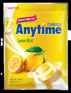 LOTTE ANYTIME bonbon xylitol limona 74 g