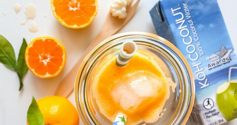 Koh Coconut poživljajoč probiotični napitek z mandarino