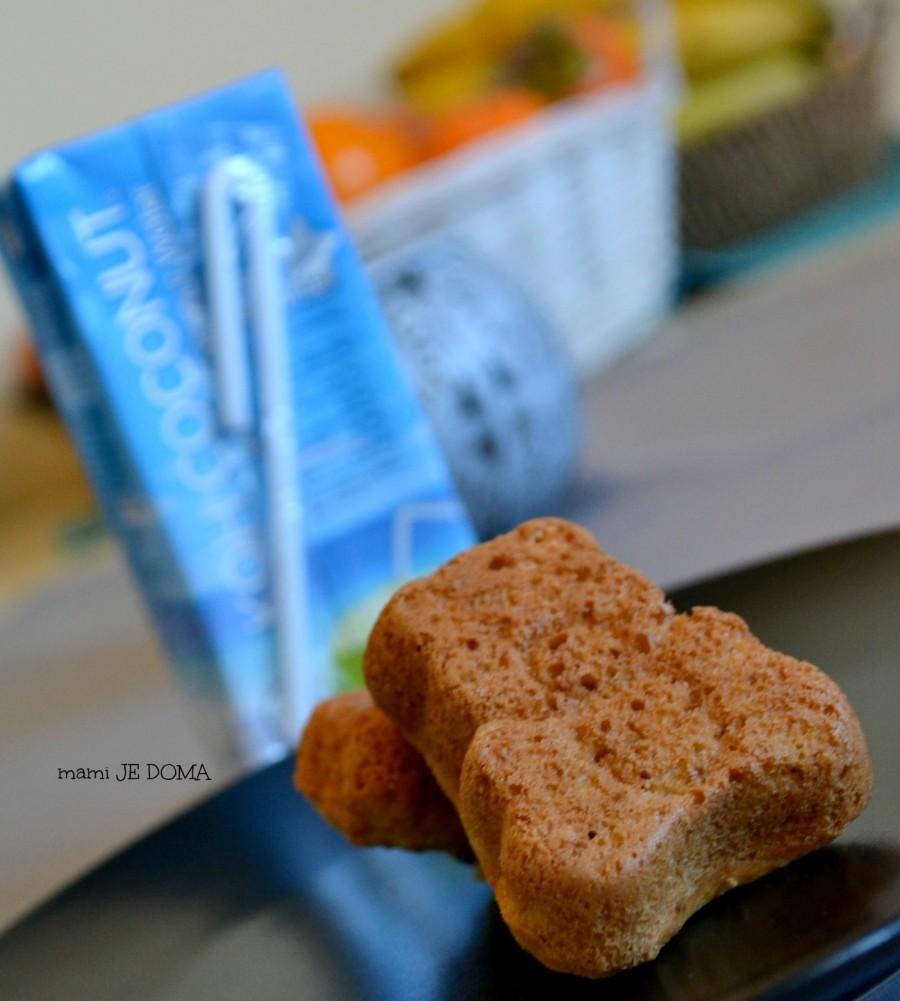 Kokosov kolaček v obliki medvedka s čokolado